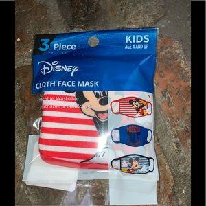 Disney Kids Cloth Face Masks set of 3